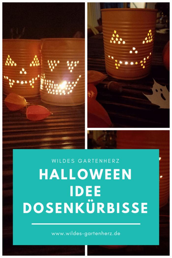 Halloween Idee Dosenkürbis