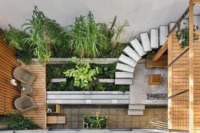 Gartengestaltung mit einer Terrasse
